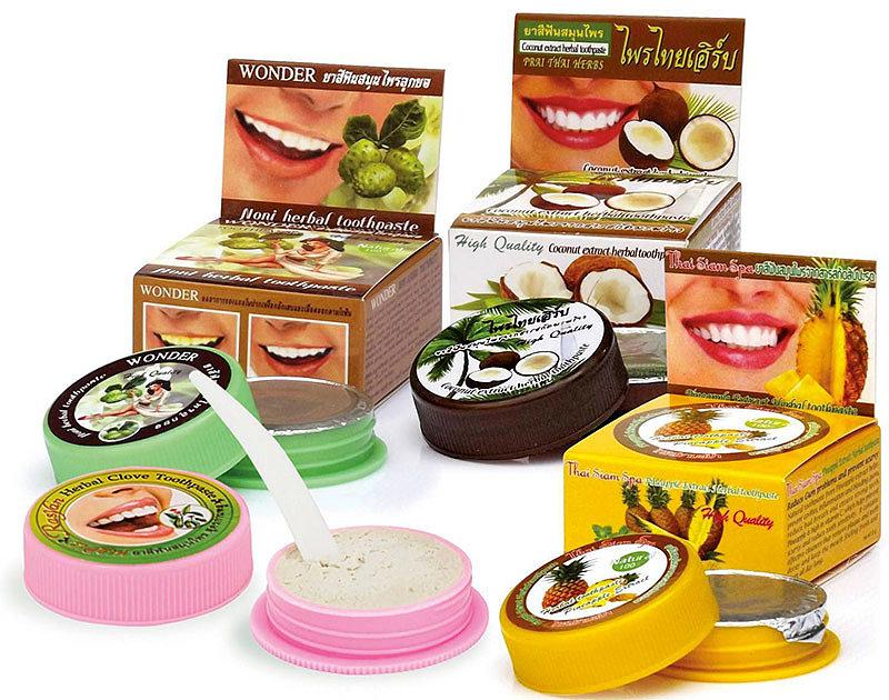 виды тайских зубных паст
