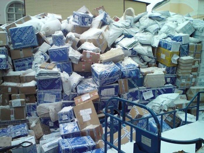 Задержки в работе почты России