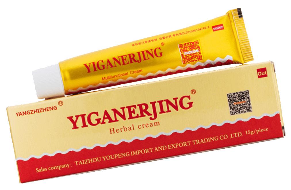 Натуральный негормональный крем от псориаза Yiganerjing